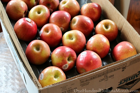 case of fuji apples