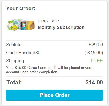 citrus lane discount code