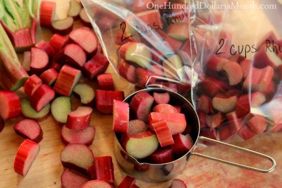 how to freeze rhubarb