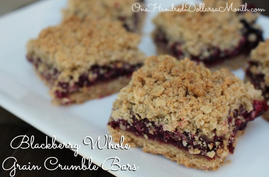 Blackberry Whole Grain Crumble Bars