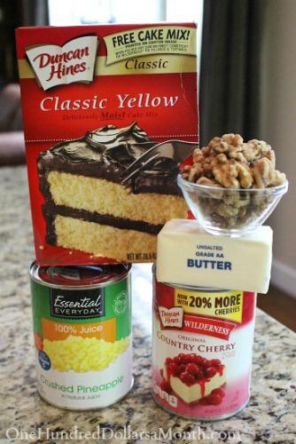 Cherry Pineapple Dump Cake Recipe