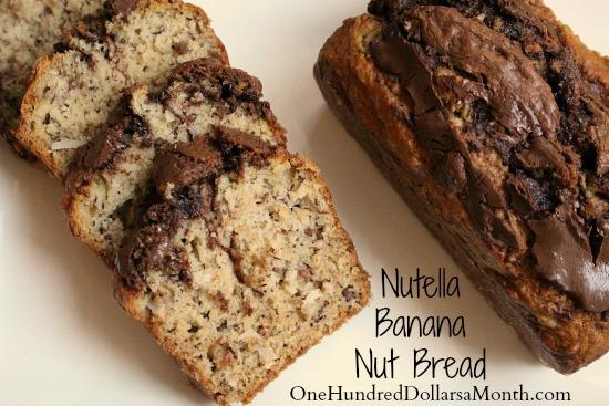 Nutella Banana Nut Bread