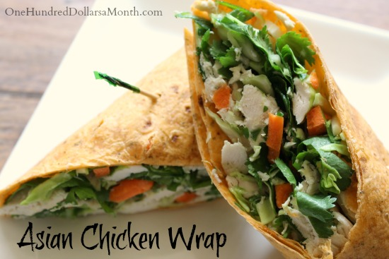 asian chicken wrap recipe