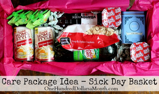 Care Packages for College Students Sick Day Basket