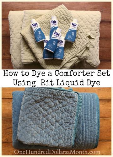 How to Dye a Comforter Set Using Rit Liquid Dye