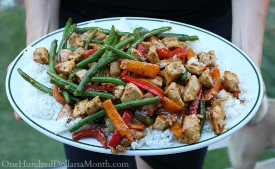 chicken stir fry dish