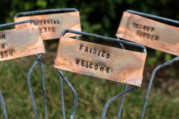Copper Garden Markers With Patina Finish