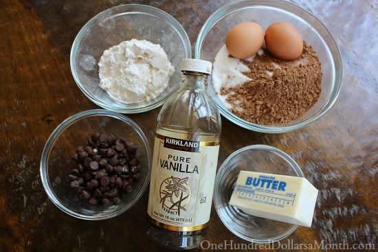 ingredients for German Chocolate Brownie Bars