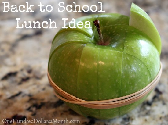 Back to School Lunch Ideas - How to Prevent Apple Slices from Browning