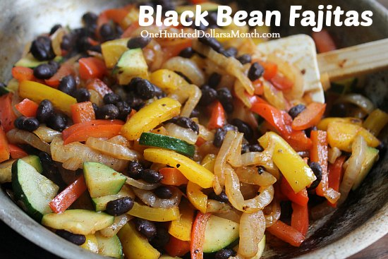 Black Bean Fajitas