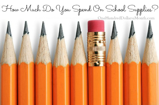 How Much Do You Spend On School Supplies