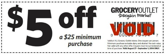 grocery outlet coupon