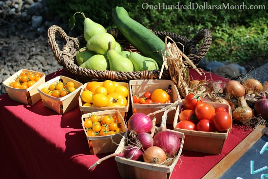heirloom tomatoes roadside stand