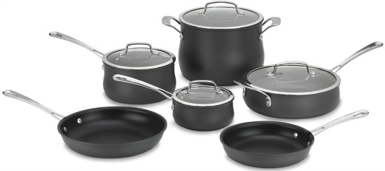Cuisinart 64-10N Contour Hard Anodized 10-Piece Cookware Set