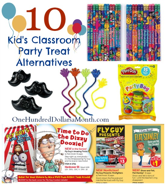 Kids Classroom Party Treat Alternatives