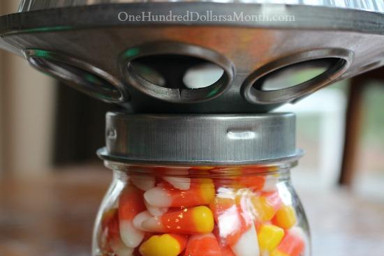 Candy Corn Mason Jar for Halloween