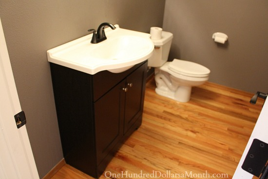 Mavis Powder Room Before And After Photos One Hundred Dollars A Month