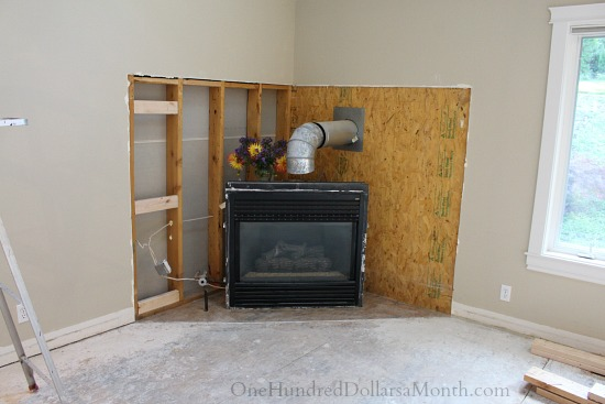... corner fireplace remodel