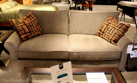 dania couch feather cushions
