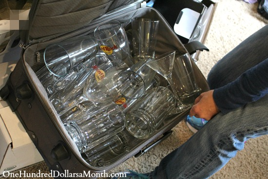 how to pack glass