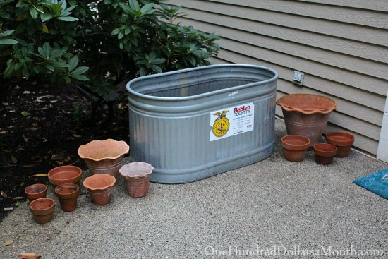 stock tanks as garden containers