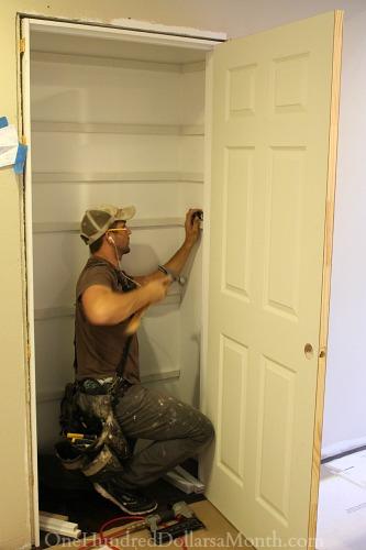installing pantry shelves