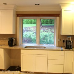 Budget Kitchen Cabinets Outdoor Frame Kit Mavis Remodel Blog Day 37 - The White Are ...