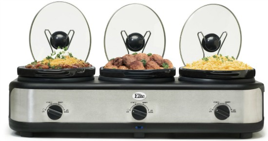 triple slow cooker