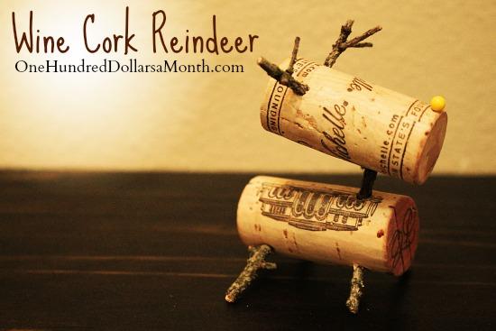 Wine Cork Reindeer diy Christmas craft