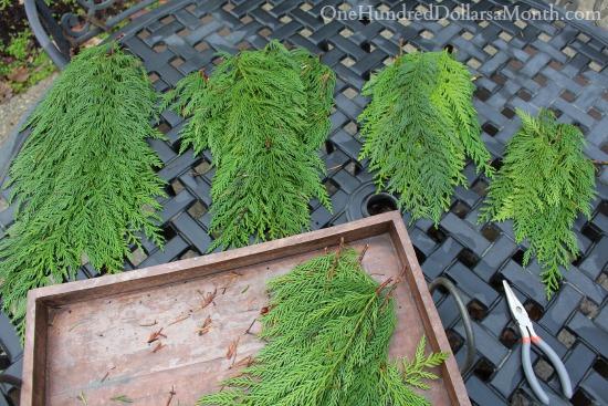 make a cedar garland from scratch