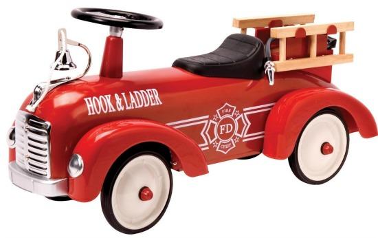 metal ride on fire truck