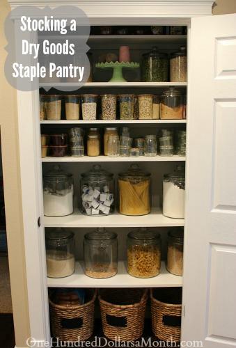 Stocking a Dry Goods Staple Pantry