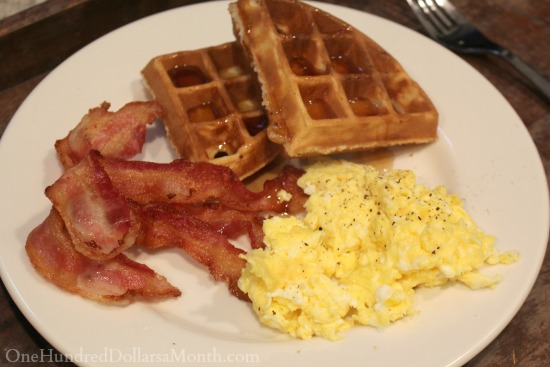 bacon and waffles