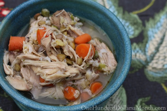 chicken soup with lentils and rice