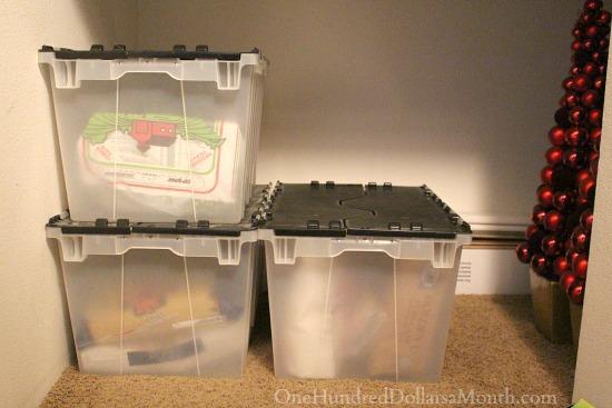 locking storage bins food storage
