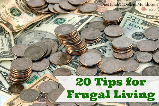 20 Tips for Frugal Living