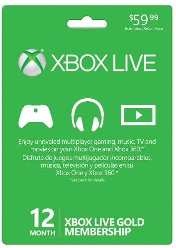 Xbox Live 12 Month Gold Membership