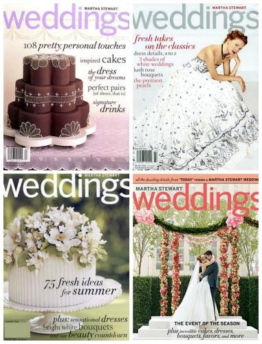 martha stewart weddings magazines