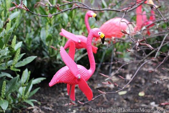 flamingo whirligig