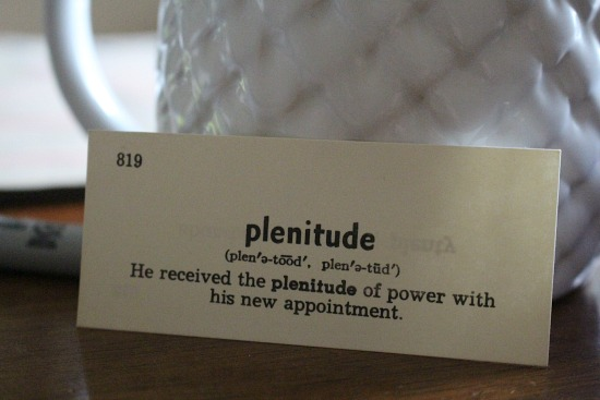 plentitude