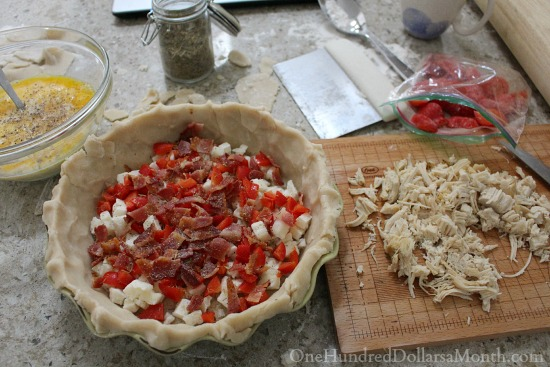 Chicken and Bacon Quiche Recipe