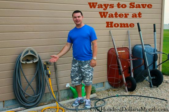 ways to save water at home