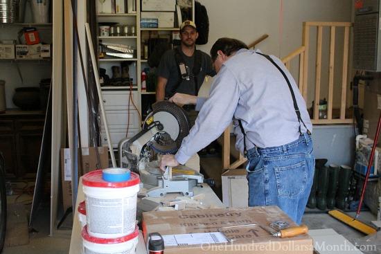 chop saw garage remodel