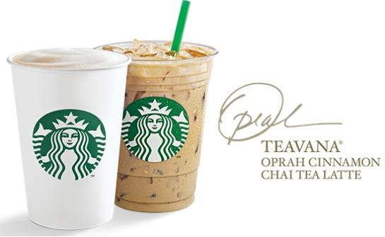free starcbucks oprah tea