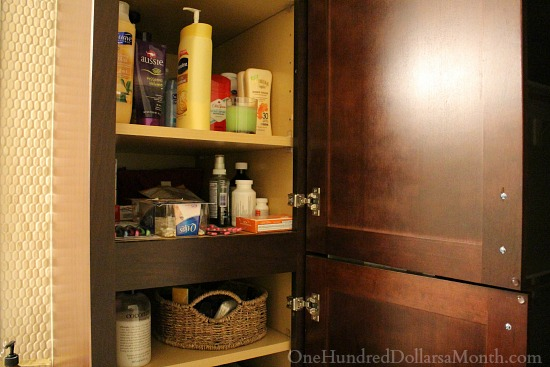 organized cabinets