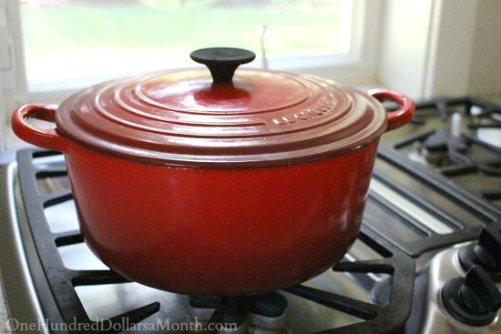 Le Creuset cast iron pots