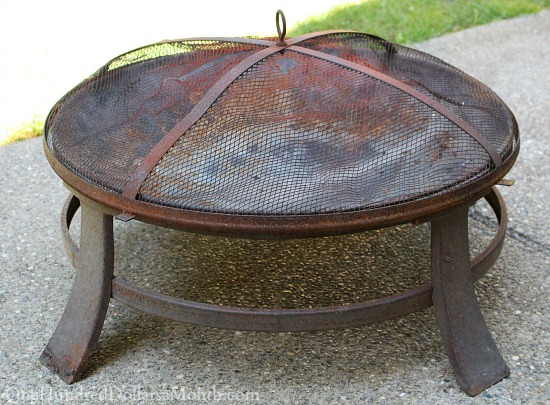 rusted fire pit