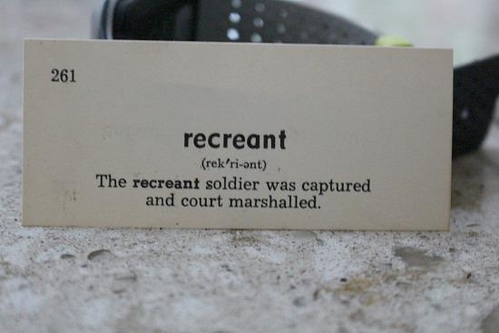 recreant