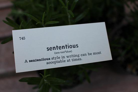 sententious