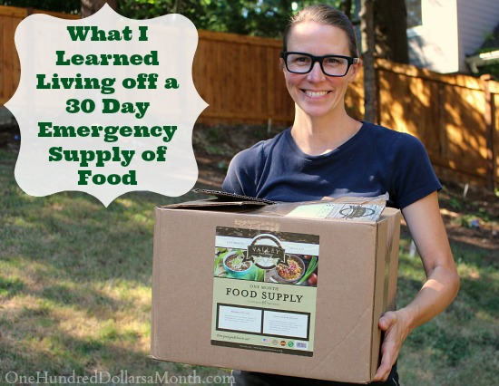 What I Learned Living off a 30 Day Emergency Supply of Food